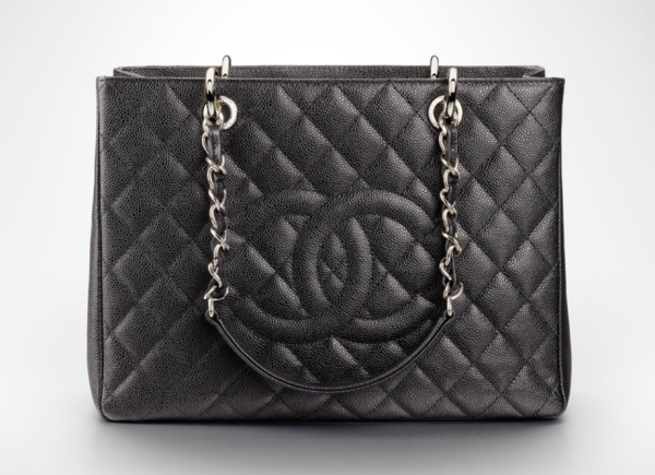 Chanel Grand/ large Shopping Tote quilted in grained calfskin  9.4 x 13 x 5.1 in